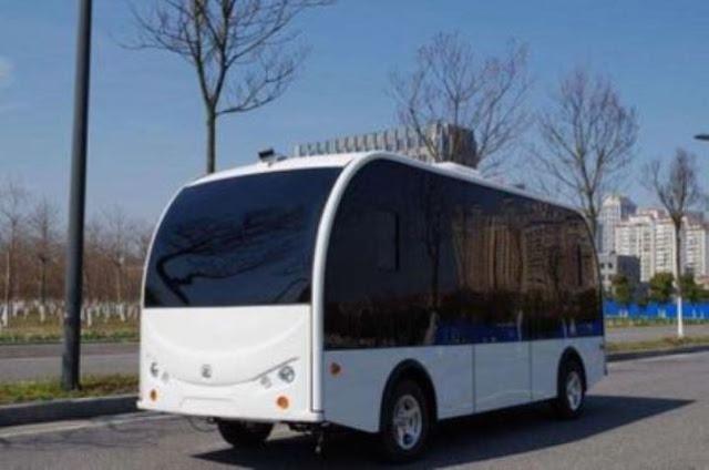 الصين تطلق أول حافلة ذاتية القيادة إلى أسطول النقل العام.
