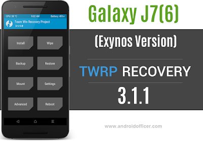 TWRP Recovery for Galaxy J7 2016 Exynos