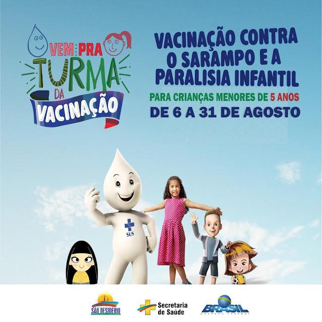 Dia D contra paralisia infantil e sarampo será realizado neste final de semana em São Desidério