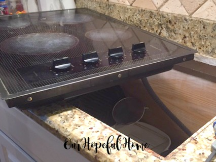 removal of electric stove top