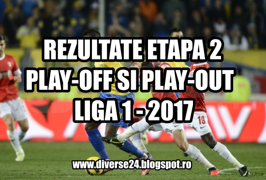 Rezultate inregistrate in liga 1 - grupele playoff si playout