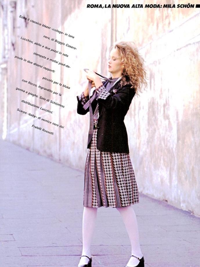 Mila Schon designs in Vogue Italia September 1982