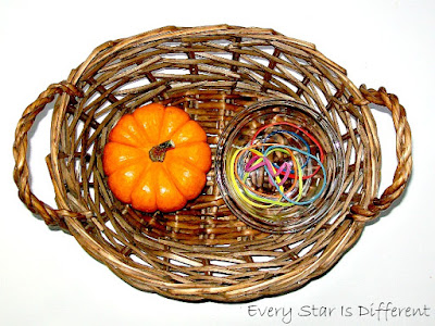Wrapping Rubber Bands around a Pumpkin
