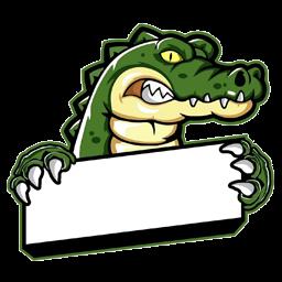 logo dream league soccer crocodile