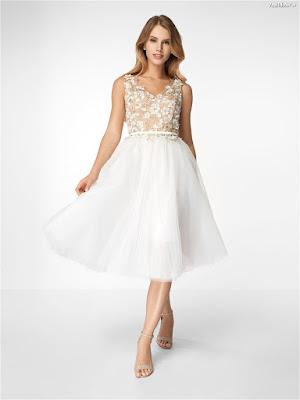 Vestidos de Encaje Blanco Cortos