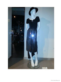 metallic skirt worn with athletic shoes