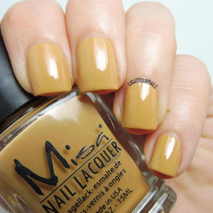 Smalto lacca giallo senape Misa Hot Couture (Runway) mustard yellow creme nail polish
