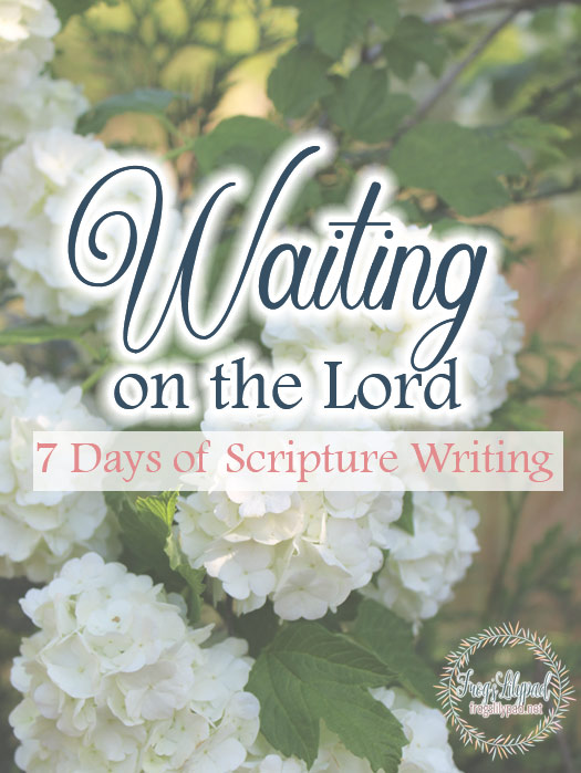 Learning to wait can be hard. Our blessings will abound when we learn to wait upon the Lord. 7 Days of Scripture Writing included.
