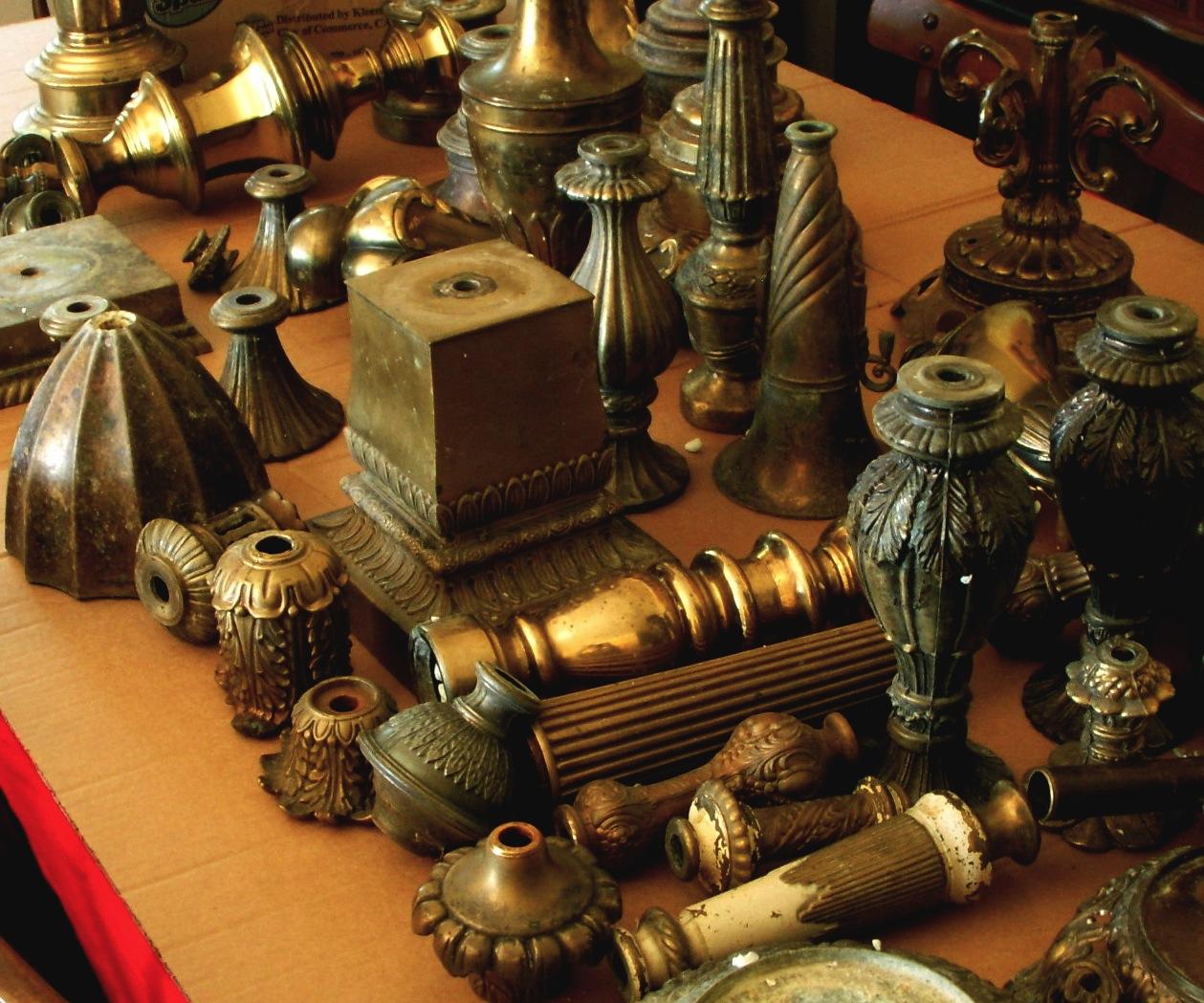 Antique Brass Lamp Finials