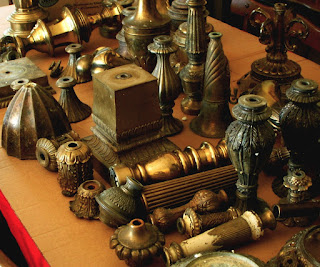 Antique Brass Lamp Finials