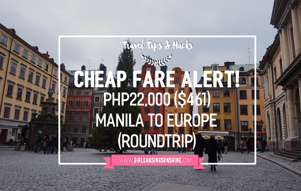 Cheap Fare Alert Manila to Europe