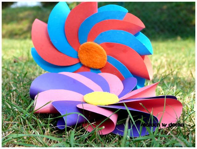 Kwiaty z kół origami