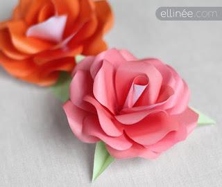 Красивая роза из бумаги: МК и шаблоны