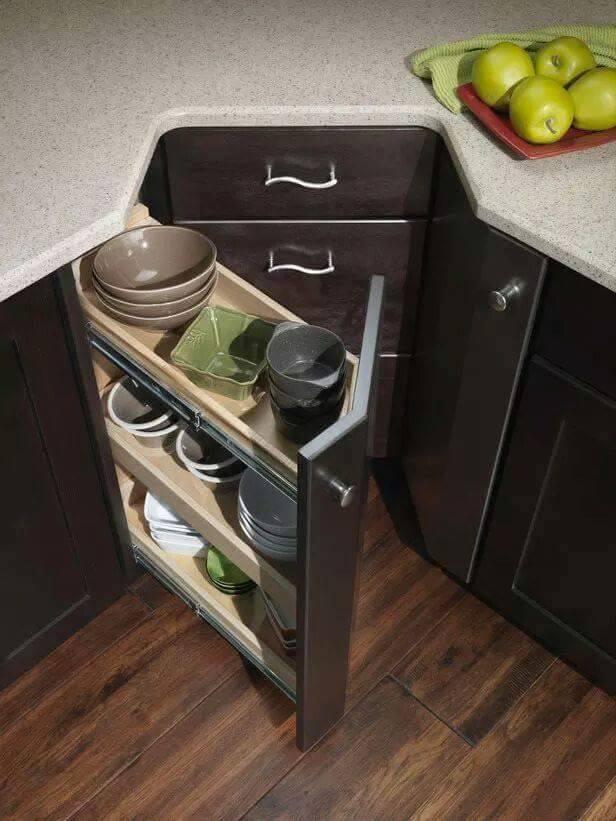 25 Creative Corner Kitchen Cabinet Ideas Home Decor