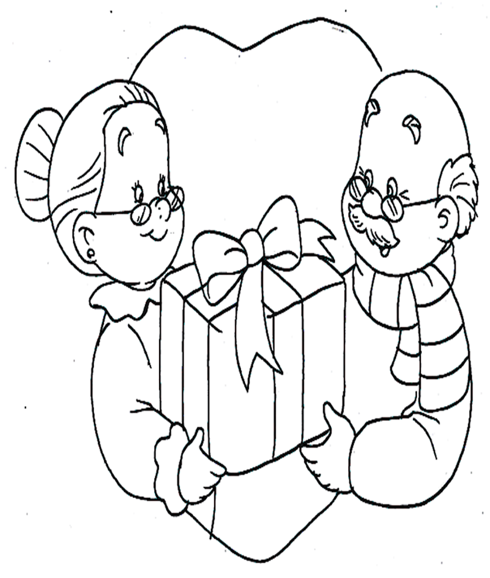 Dibujos De Abuelitos Para Colorear Imagui