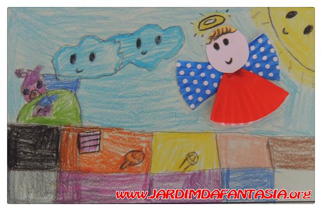 Ilustrando poem com construção de anjinho de forma de brigadeiro