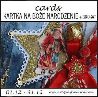 CARDS - kartka na Boże Narodzenie + brokat