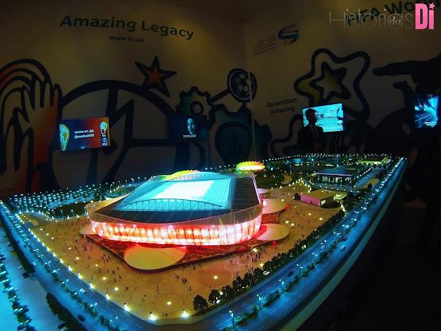 Maquete das instalações da Copa de 2022