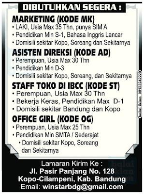 Lowongan Kerja Winstar Bandung