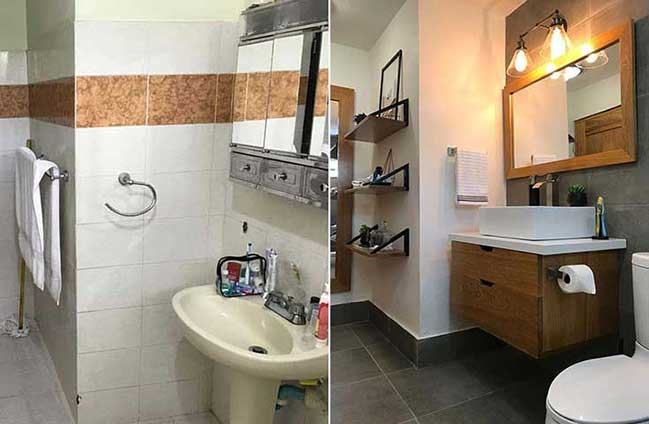 The old Bathroom Model Was Transformed After Being Renovated