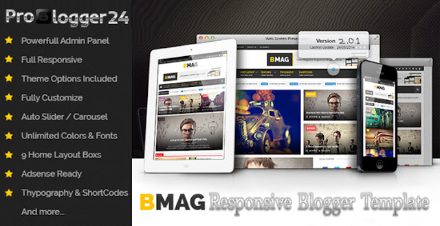 b mag blogger template free download