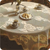 "Mantel cuadrado ""Rosas blancas"" a Crochet"