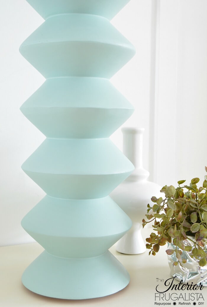 DIY Geometric Lamp Base Painted Sea Glass