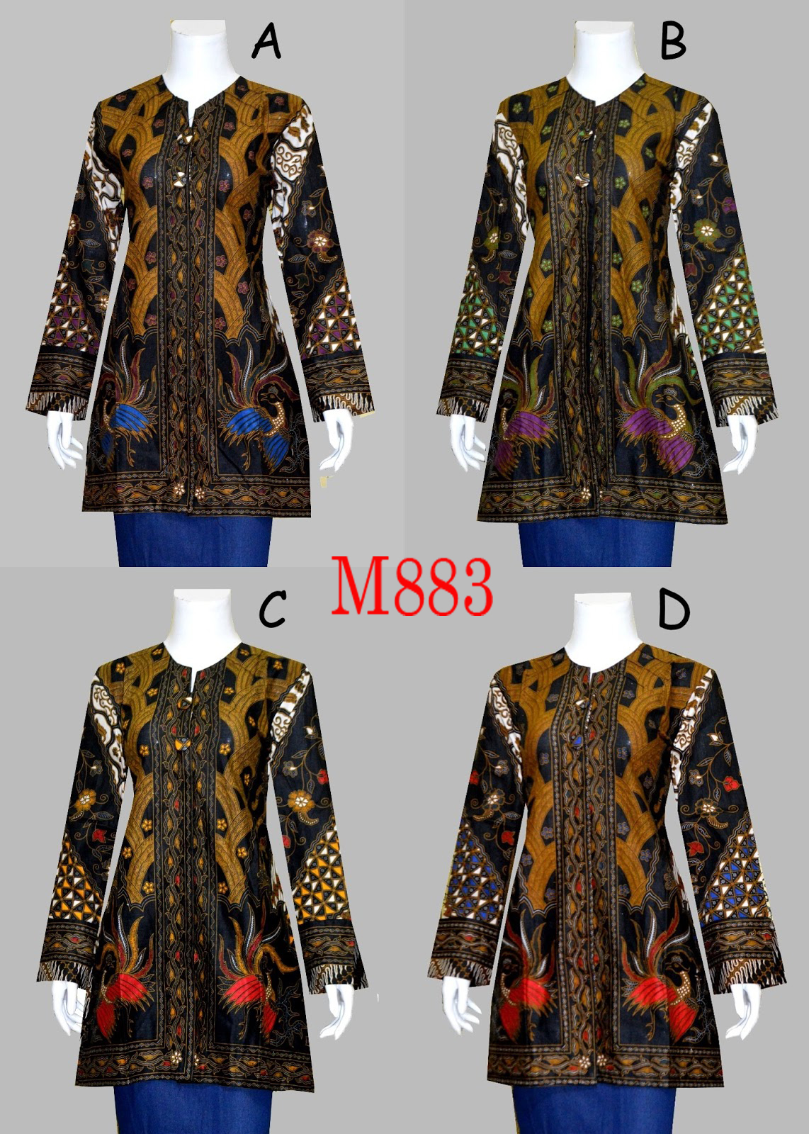 Model Baju Batik Blouse M883