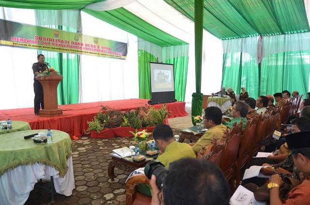 Kajaksaan Negeri Pariaman Sosialisasikan Pengunaan Dana Desa dan TP4D Kepada Walinagari dan Kepala Desa