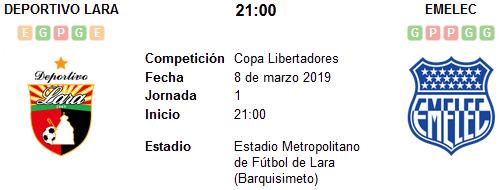 Deportivo Lara vs Emelec en VIVO