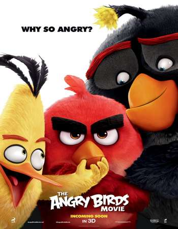 Poster Of The Angry Birds Movie 2016 Dual Audio 300MB HDRip 576p Free Download Watch Online Worldfree4u
