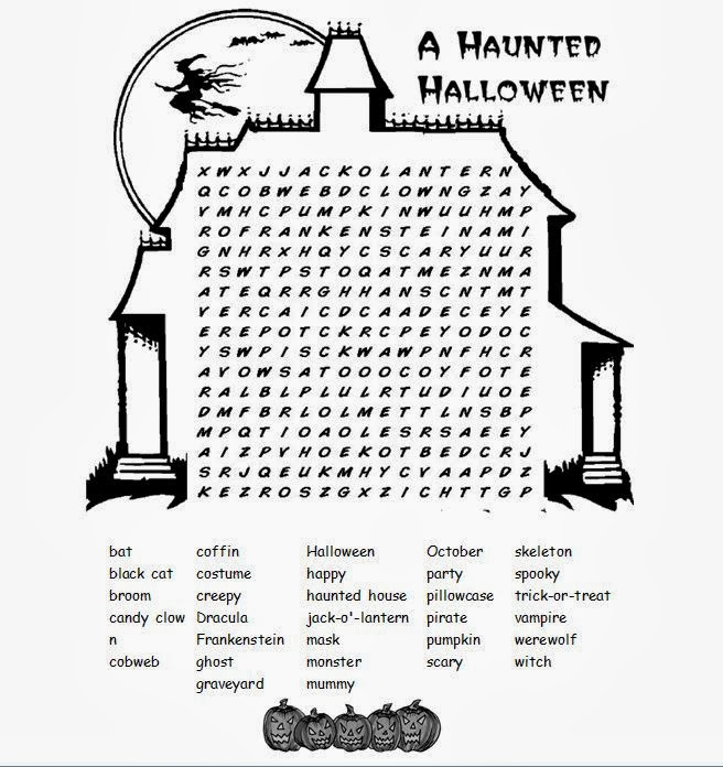 Halloween word search difficult images pictures becuo