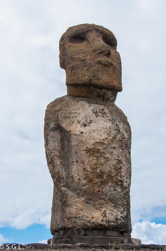 Moai mas grande en Ahu Tongariki. Isla de Pascua