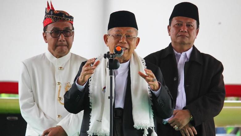 Ma'ruf Amin: Niat Hati Ingin Singgung Prabowo, eh yang Kena Malah Jokowi