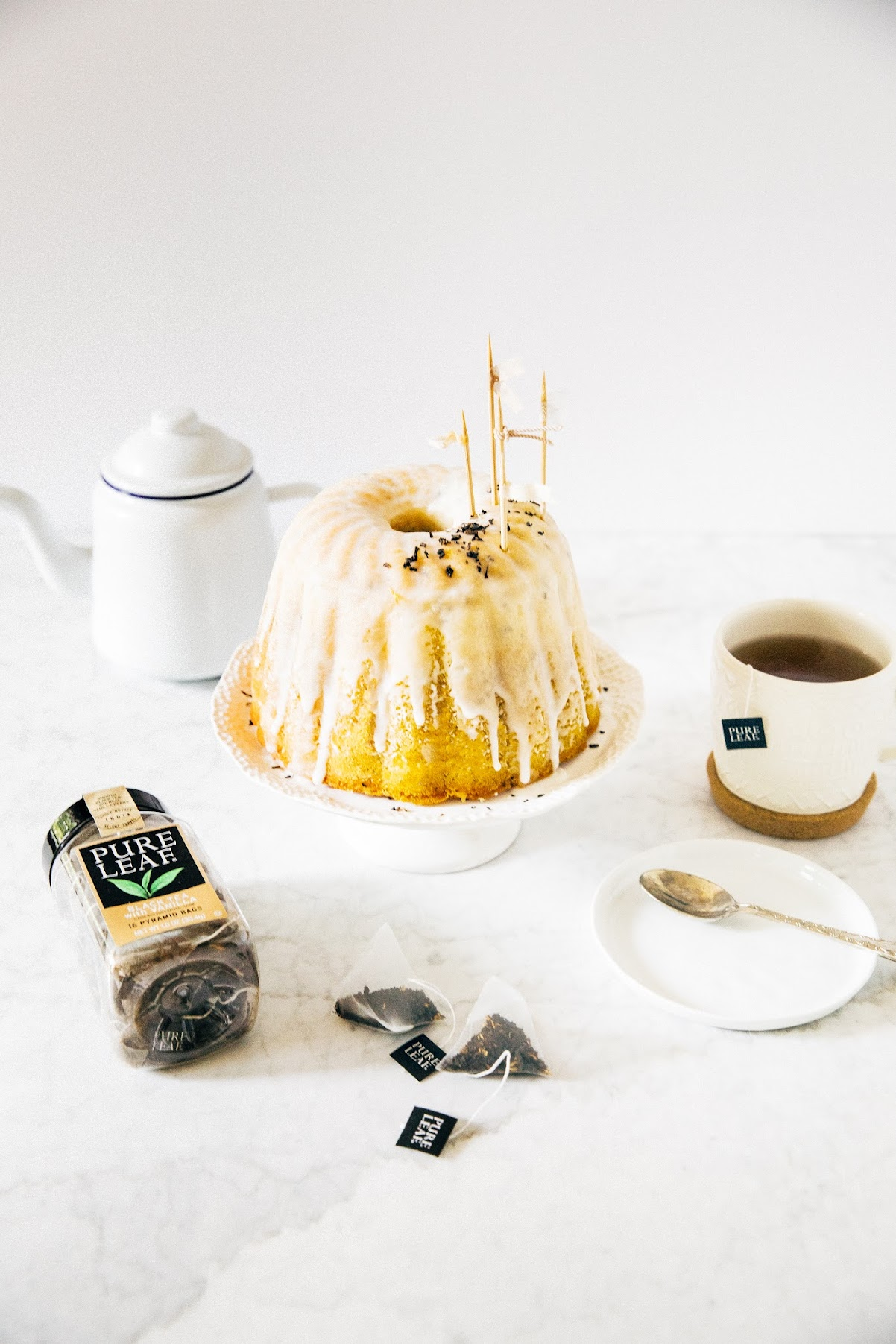 lemon, black tea, and vanilla bundt cake
