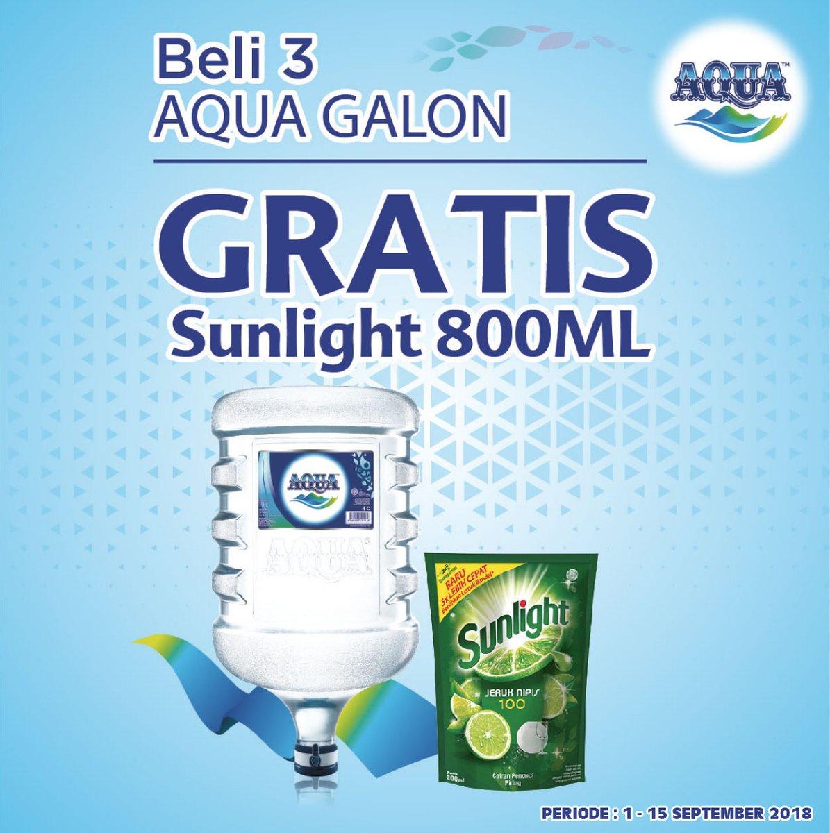 Alfamidi - Promo Beli 3 Aqua Galon Gratis Sunlight 800 ml (s.d 15 Sept 2018)