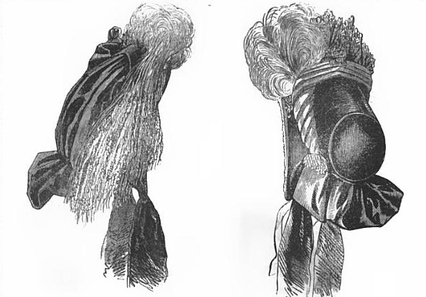 Bonnet in Peterson's Magazine, February 1864