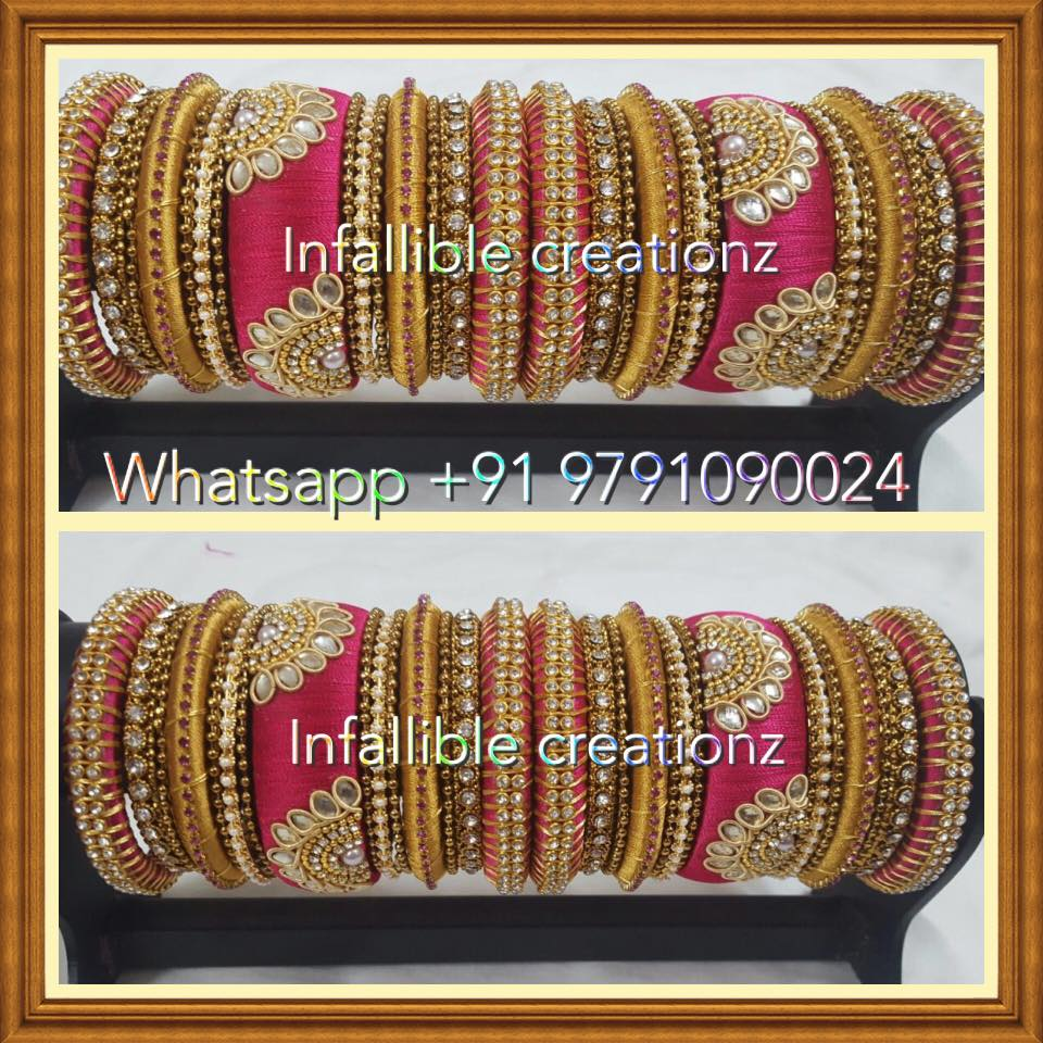 Infalliblecreationz IC - Silk Thread Jewellery: Bridal Bangles ...