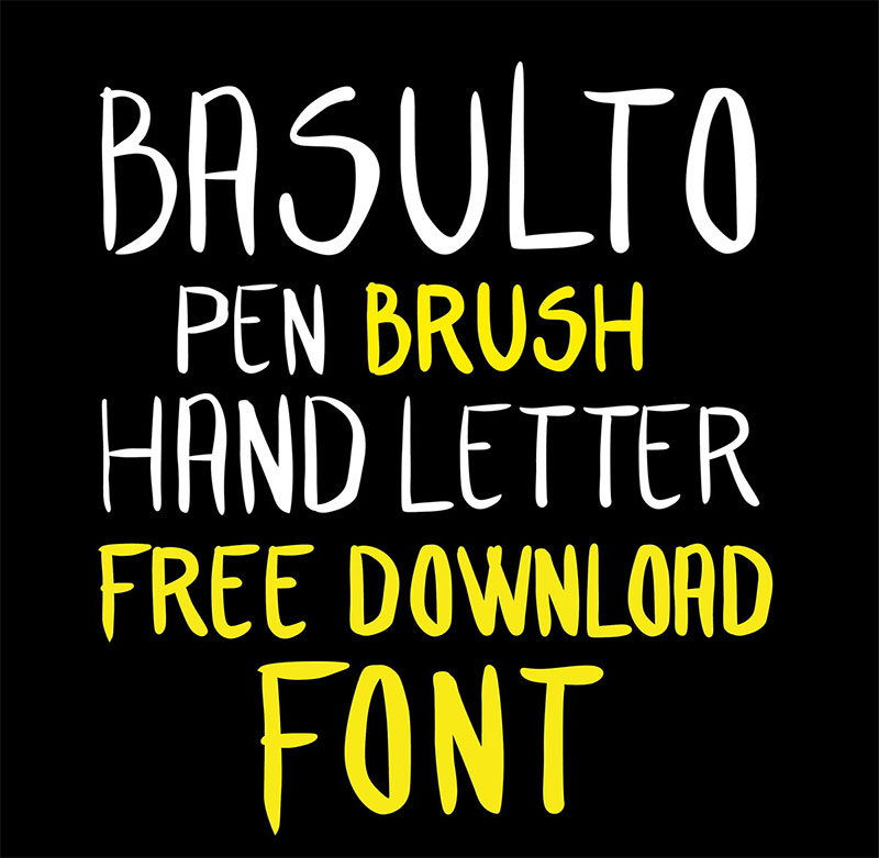 Hand letter Free Font
