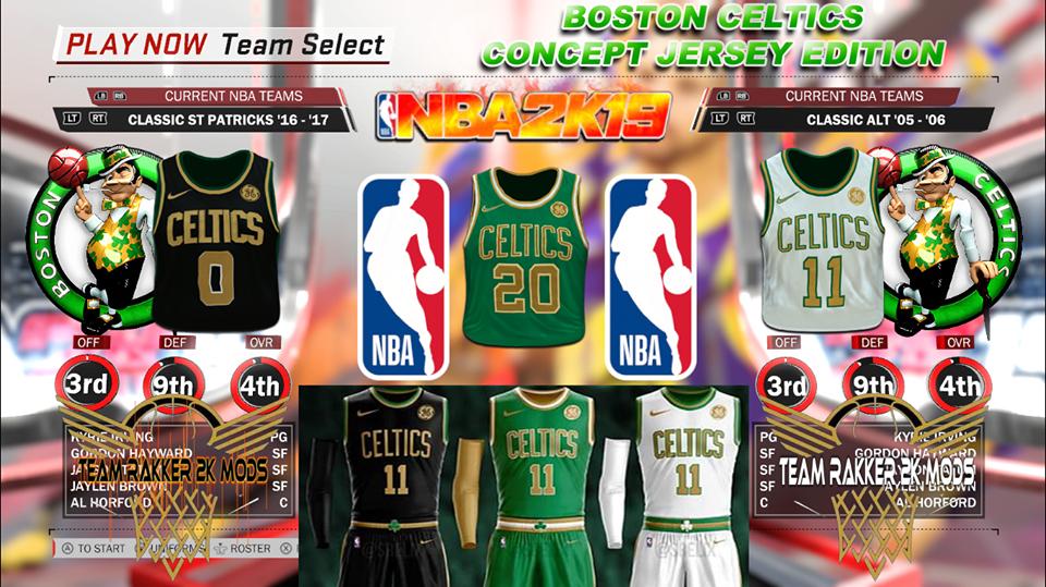 Team Rakker 2k Mods Boston Celtics Concept Jersey Edition By Team Rakker