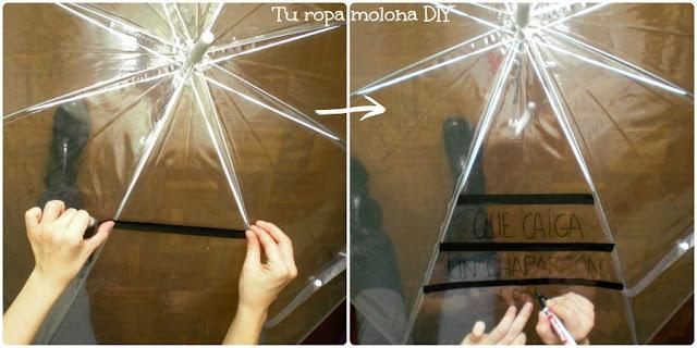 Pinta los gajos del paraguas