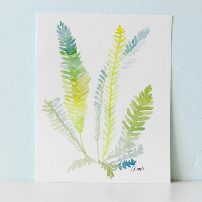 Watercolor Ferns by Elise Engh: Grow Creative