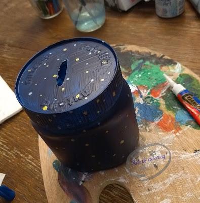 Adzik tworzy - DIY skarbonka ze słoika z recyklingu