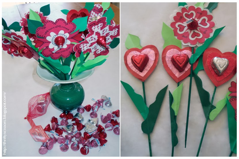 Craft a Paper Candy Posy for Your Valentine   Thrifty Scissors