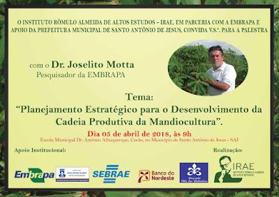SAJ: Agricultores participam de palestra sobre cadeia produtiva da Mandiocultura