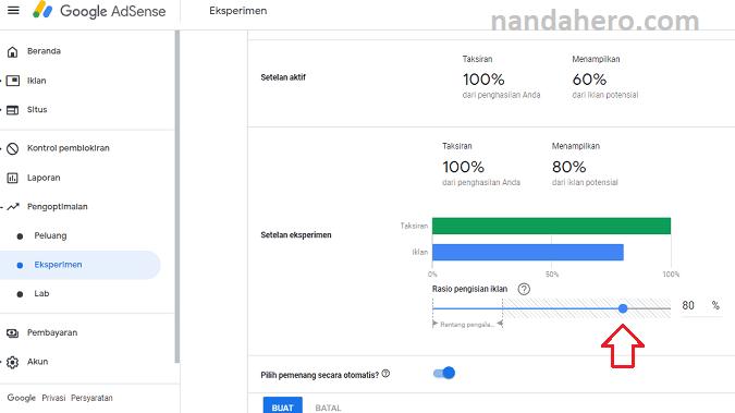 cara melakukan eksperimen di google adsense