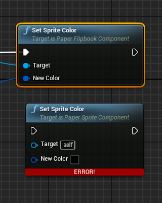 Change to Set Sprite Color (Flipbook)