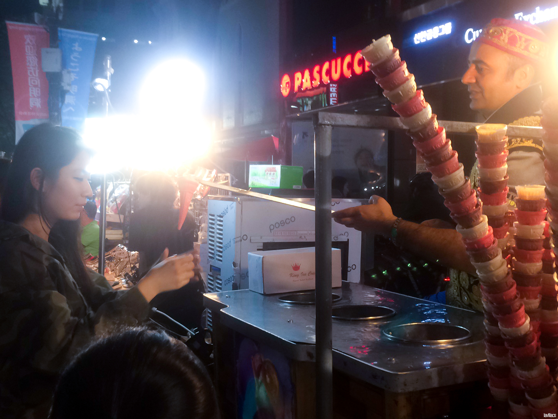 Seoul, Korea - Summer Study Abroad 2014 - Myeongdong Turkish Ice cream