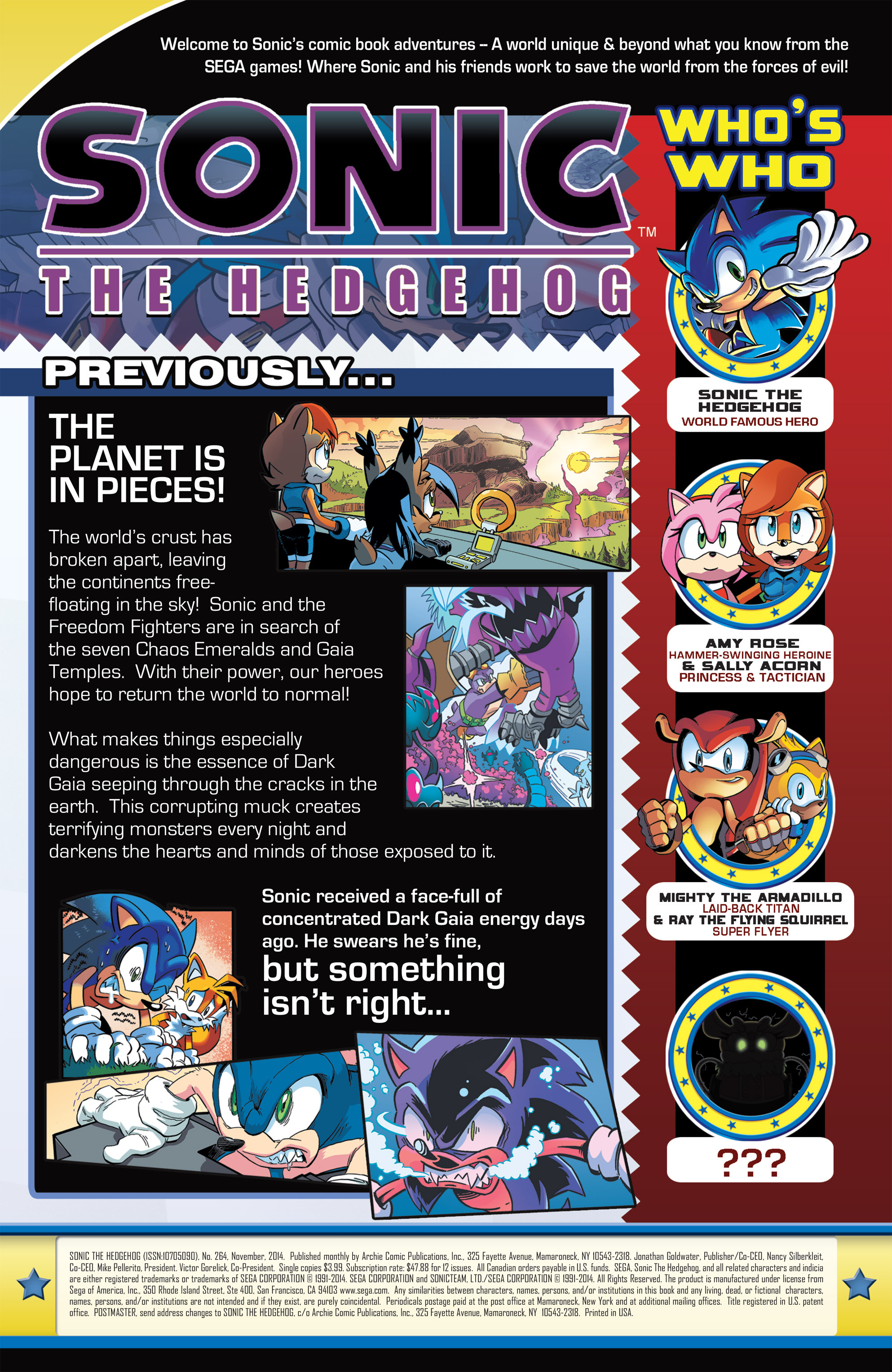 Read online Sonic The Hedgehog comic -  Issue #264 - 2