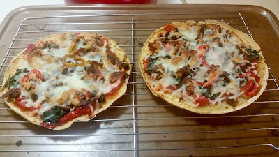 Socca flatbread used as a pizza crust